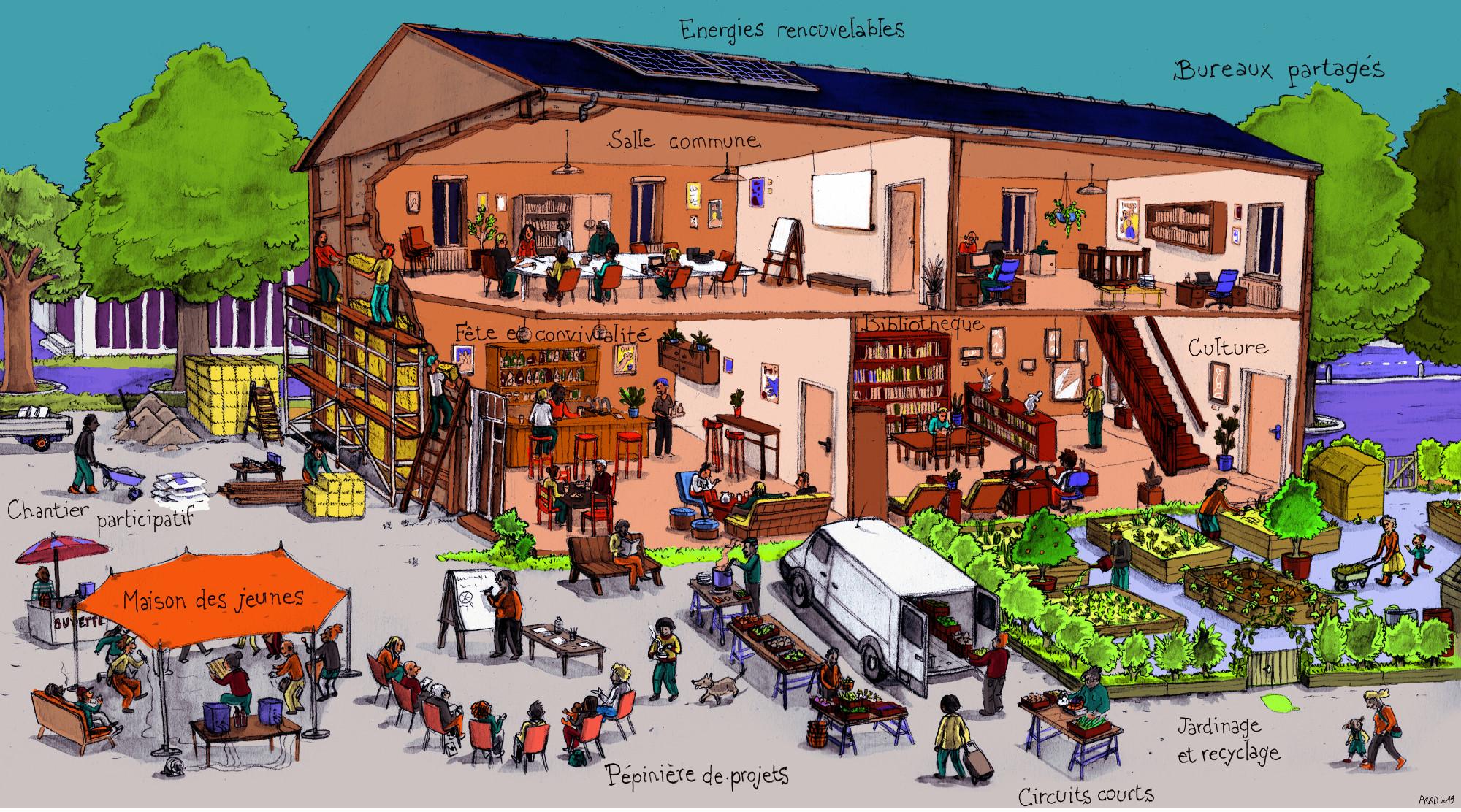 Une maison commune à Saint-Auban